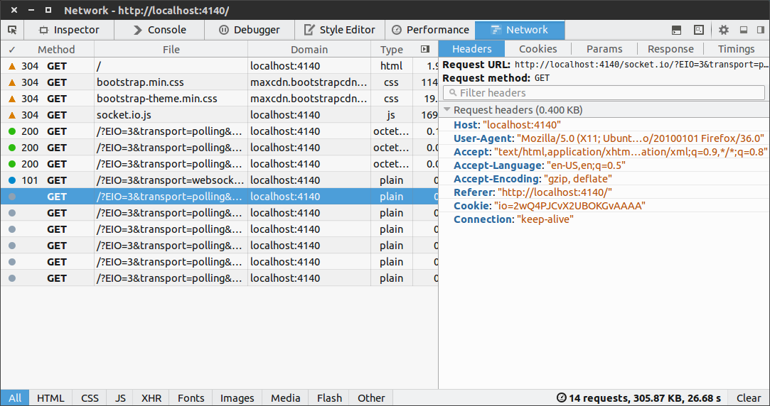 CSCI 4140 - Tutorial 9: Debugging WebSocket in Chrome or Firefox